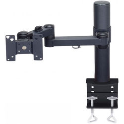 "Premier Mounts Articulating Arm with 15"" Tube and Clamp Base for 15"" Display (Load Up to 25 lb)"