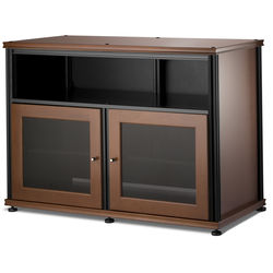 Salamander Designs Synergy 329 Double-Door AV Cabinet (Black Posts, Dark Cherry Finish)