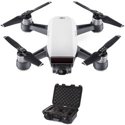 DJI Spark Quadcopter Kit with Hard Case (Alpine White/Black)
