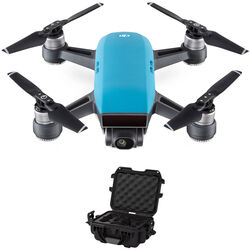 DJI Spark Bundle with Waterproof Case (Sky Blue)