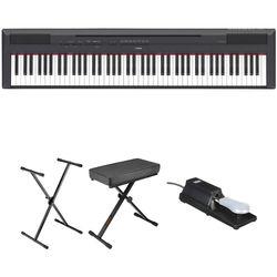 Yamaha P-115 Digital Piano Essentials Bundle (Black)