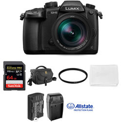 Panasonic Lumix DC-GH5 Mirrorless Micro Four Thirds Digital Camera with 12-60mm Lens Deluxe Kit