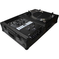 ProX XS-TMC1012WBL Universal Single-Turntable and Mixer Coffin Case (Black on Black)