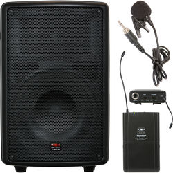 """Galaxy Audio TQ8-40V0 Traveler Quest 8"""" Speaker with Bodypack Transmitter and Lavalier Microphone (521.850 MHz)"""