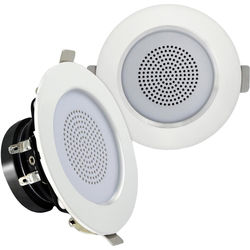 "Pyle Pro PDIC3FR 3"" Ceiling/Wall 100W 2-Way Aluminum Frame Speakers (Pair)"