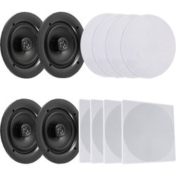 "Pyle Pro PDICBT256 4 x 5.25"" Bluetooth Ceiling / Wall Speaker Kit (4-Pack)"