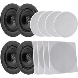 "Pyle Pro PDICBT286 8.0"" Bluetooth Ceiling / Wall Speaker Kit (4-Pack)"