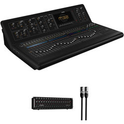Midas M32-IP Digital Console Kit with 32-Channel Stage Box and etherCON Cable