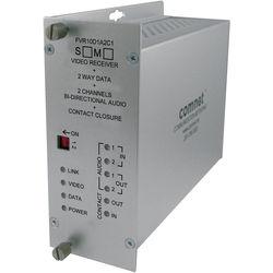 COMNET Single Mode 10-Bit Video Receiver/Data Transceiver/Audio Receiver Module with Bi-Directional Data/Audio/Contact Closure (Up to 43 mi)