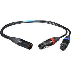 "Cable Techniques CT-PYM-18 18"" (457.2mm) Microphone Y-Cable (Black)"