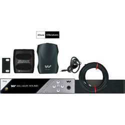 Williams Sound FM 457 NET D PRO Personal PA FM Assistive Listening System with Network Control and Dante Input (4 Receivers)