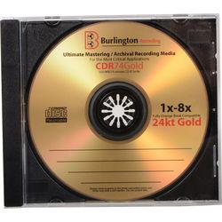 BURLINGTON RECORDING BA-CDR74GOLD Gold Mastering / Archival CD-R