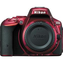 Nikon D5500 DSLR Camera (Refurbished, Body Only, Red)