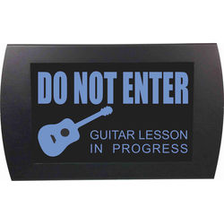 American Recorder Do Not Enter - Guitar Lesson in Progress LED Indicator Sign (Blue)