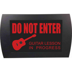 American Recorder Do Not Enter - Guitar Lesson in Progress LED Indicator Sign (Red)