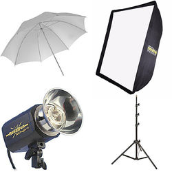 Novatron M150 2-Monolight Kit with Umbrella and Softbox