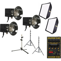 Novatron D1500 3-Head Kit with Softboxes
