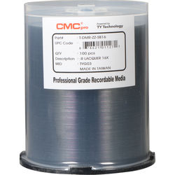 CMC Pro DVD-R 4.7GB 16x Shiny Silver Lacquer Discs (100-Pack)