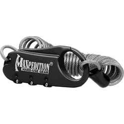 Maxpedition Steel Cable Lock (Black)