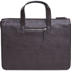 """Setton Brothers Elogio Slim Briefcase for 13"""" Laptop (Brown)"""
