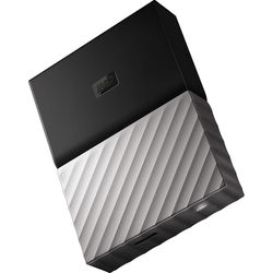 WD 2TB My Passport USB 3.0 Secure Portable Hard Drive (Gray)
