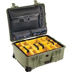 Pelican 1560SC Studio Case (Green V2/Yellow Dividers)