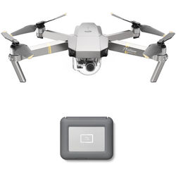DJI Mavic Pro Platinum Drone with LaCie 2TB Copilot BOSS Hard Drive Kit
