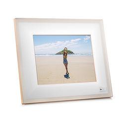 """Aura Frames 9.7"""" Smart Frame (Ivory with Rose Gold Trim)"""