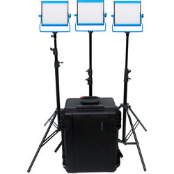 Dracast LED500 S-Series Bi-Color 3-Light Kit with V-Mount Battery Plates and Hard Case