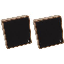 "Atlas Sound WD417-72 8"" Slant Wall Mount Speaker/Baffle Package 25/70.7V Transformer (Pair)"