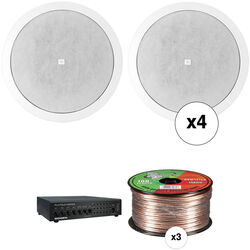 JBL Basic Two-Zone, 70V Ceiling Sound System for up to 1,000 sq ft. sq ft.