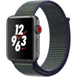 Apple Watch Nike+ Series 3 42mm Smartwatch (GPS + Cellular, Space Gray Aluminum Case, Midnight Fog Midnight Fog Nike Sport Loop)