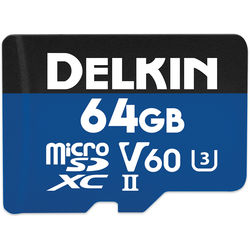 Delkin Devices 64GB Prime UHS-II microSDXC Memory Card