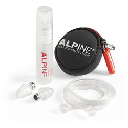 Alpine Hearing Protection Universal Earplug Kit with Acoustic Flat Filter (2-Pack)