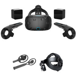 HTC Vive VR Headset Kit with Racket Sports Set and Deluxe Audio Strap