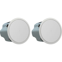 """Tannoy 8"""" Full-Range Ceiling Loudspeaker with Dual Concentric Driver and Q-Centric Waveguide (Blind Mount, Pair)"""