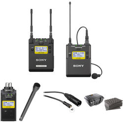Sony 2-Channel Receiver with Bodypack, Plug-on Transmitter & Handheld Mic Kit (Ch: 14 to 25)