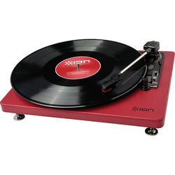 ION Audio Compact LP Stereo Turntable with USB (Burgundy)