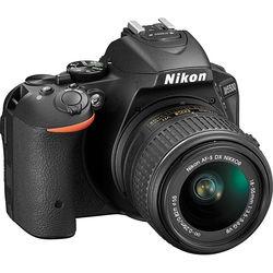 Nikon D5500 DSLR Camera with AF-P 18-55mm Lens (Black, Refurbished by Nikon USA)