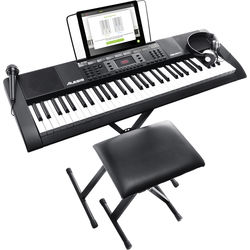 Alesis MELODY 61 Portable 61-Key Keyboard with Built-In Speakers and Accessories