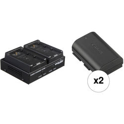 Dolgin Engineering TC200-DSLR-C Charger Kit with 2 Canon LP-E6N Lithium-Ion Battery Packs