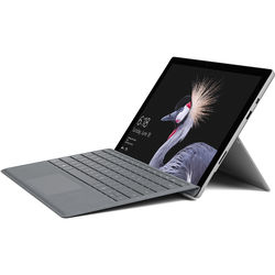"""Microsoft Surface Pro 12.3"""" 128GB Multi-Touch Tablet with Platinum Signature Type Cover (2017, Wi-Fi Only, Silver)"""
