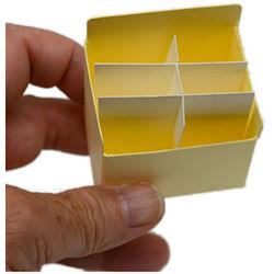"""Archival Methods Slide Tray Bin (2-1/8 x 2-1/8"""" x 1-3/8"""", 8-Pack)"""
