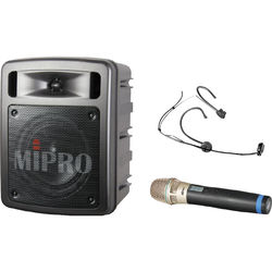 MIPRO ClassMascot 60W Bluetooth Portable PA System with Wireless Handheld and Headworn Microphones (5A: 506 to 530 MHz)