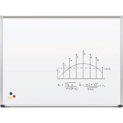 Best Rite Magne-Rite Whiteboard with Aluminum Trim & Map Rail (3 x 4')