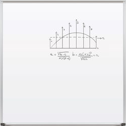 Best Rite Magne-Rite Whiteboard with Aluminum Trim & Map Rail (4 x 4')