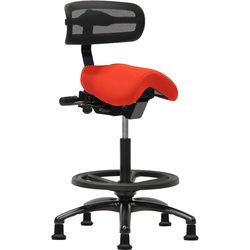 ErgoLab Performer Series Studio Stool With Backrest