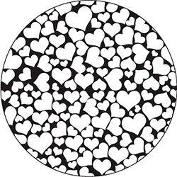 Rosco  All My Hearts B/W Wedding Glass Gobo (A Size)
