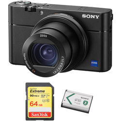 Sony Cyber-shot DSC-RX100 V Digital Camera with Free Accessory Kit