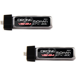 Venom Group Micro Drone 30C 1S 150mAh 3.7V LiPo Battery with E-Flite MCX Plug (2-Pack)